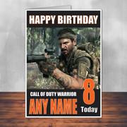 Call Of Duty Shaun 13 Personalised Birthday Card
