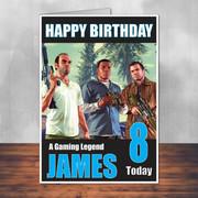 GTA 5 Team Personalised Birthday Card