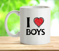 I Love Boys Rude Adult Mug