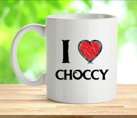 I Love Choccy Rude Adult Mug