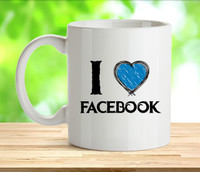 I Love Facebook Rude Adult Mug