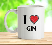 I Love Gin Rude Adult Mug
