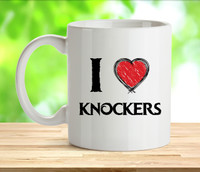 I Love Knockers Rude Adult Mug