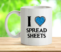 I Love Spreadsheets Rude Adult Mug