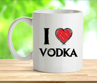 I Love Vodke Rude Adult Mug