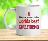 Worlds Best Girlfriend Mug
