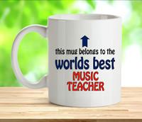 Worlds Best Music Teacher Mug