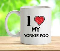 I Love My Yorkie Poo Mug