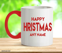 Adult Happy Christmas Red Rude Mug
