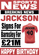Signed for Barnsley Personalised Card