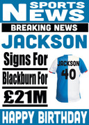 Signed for Blackburn Personalised Card