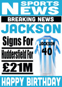 Signed for Huddersfield Personalised Card