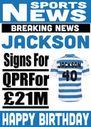 Signed for QPR Personalised Card