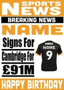 Signed for Cambridge Personalised Card