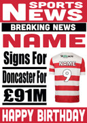 Signed for Doncaster Personalised Card