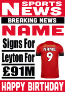 Signed for Leyton Orient Personalised Card