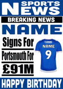 Signed for Portsmouth Personalised Card
