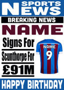 Signed for Scunthorpe Personalised Card