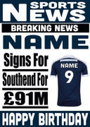 Signed for Southend Personalised Card