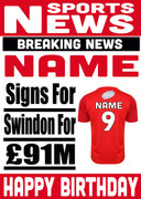 Signed for Swindon Personalised Card