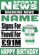 Signed for Yeovil Personalised Card