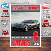 FERRARI Personalised Boy Girl Birthday Card