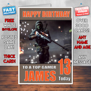 BATTLEFIELD 3 BM2 Personalised Birthday Card
