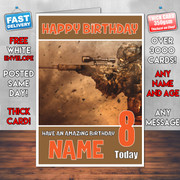 BATTLEFIELD 4 BM2 Personalised Birthday Card