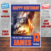 BATTLEFIELD 7 BM2 Personalised Birthday Card