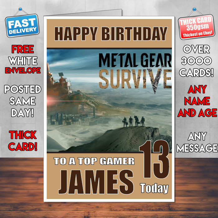 Metal Gear Solid Bm2 Personalised Birthday Card Celebrity