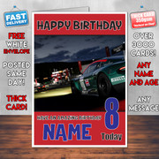 Froza Motor Sport Bm1 Personalised Birthday Card