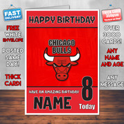 Chicago Bulls Bm2 Personalised Birthday Card
