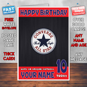 CONVERSE BM2 Personalised Birthday Card
