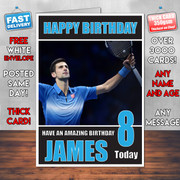 DJOKOVIC BM1 Personalised Birthday Card
