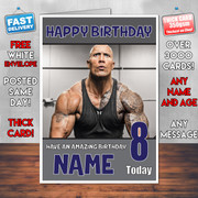 Dwayne Johnson 2 Bm2 Personalised Birthday Card