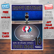 EURO 2016 FRANCE BM2 Personalised Birthday Card