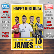 FIFA FOOTY 2 BM2 Personalised Birthday Card