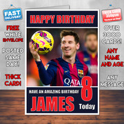 MESSI 2 BM1 Personalised Birthday Card