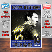Messi 3 Bm1 Personalised Birthday Card
