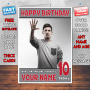 MESSI 3 BM2  Personalised Birthday Card