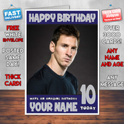 MESSI 4 BM2  Personalised Birthday Card