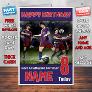 MESSI 5 BM2  Personalised Birthday Card