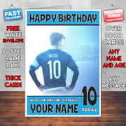 MESSI BM2 Personalised Birthday Card