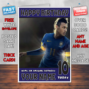 NEYMAR BM1 Personalised Birthday Card