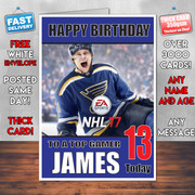 NHL 2017 BM2 Personalised Birthday Card