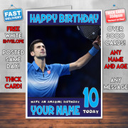 NOVAK  DJOKOVIC BM2 Personalised Birthday Card