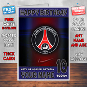 PSG BM1 Personalised Birthday Card