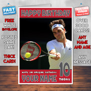 ROGER FEDERER BM2 Personalised Birthday Card