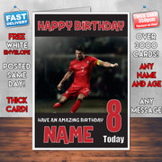 Ronaldo Bm2 Personalised Birthday Card