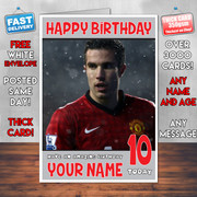 VAN PERSIE BM2 Personalised Birthday Card